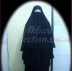 Abaya Makassar + Cadar + Purdah